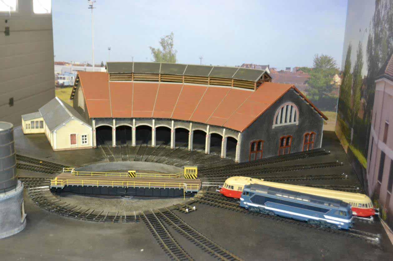 Maquette de la rotonde de Montluçon au 1/87ème